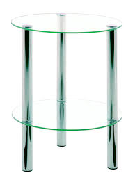 round chrome side table emden round clear glass chrome occasional table 90243