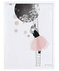 poster chambre fille affiche encadrée chambre d enfant et bébé the moon