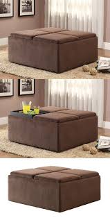 Microsuede Storage Ottoman Homelegance 468cp Textured Plush Microfiber Storage Ottoman With 4