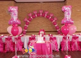 balloon arrangements for birthday 1st birthday girl balloon decoration girl birthday balloon