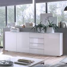 Wohnzimmerschrank Hoch Wohnzimmer Sideboard In Hochglanz Weiß Glas Sideboard
