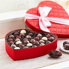 chocolate heart box 29 pc gourmet truffles heart box mrs prindables gourmet caramel apples