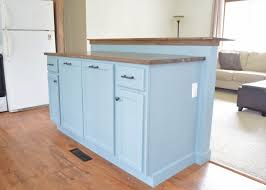 bar height kitchen base cabinets diy kitchen island with breakfast bar