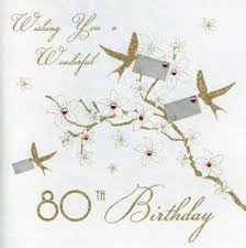 mojolondon 80th birds birthday card by five dollar shake