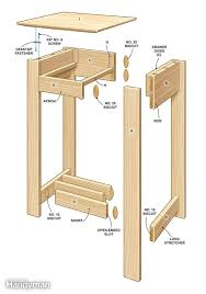 Wood Plans For End Tables by Simple Rennie Mackintosh End Table Plans For The Home