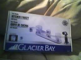 new glacier bay two handle kitchen faucet chrome with spray 833