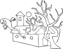 halloween halloween coloring pages free scary drawings