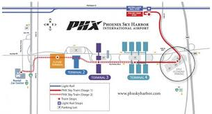 light rail to sky harbor figure 18 plan view of the phoenix sky harbor transit guideway