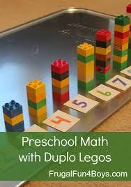two preschool math activities with duplo legos preschool math