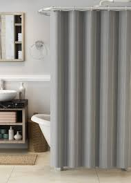 essential home ticking stripe shower curtain