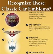 peugeot car emblem do you know your classic car emblems take our quiz infographic