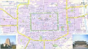 map of xi an xian travel map