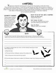 all about vampires worksheet education com