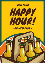 illustrated beer bottles happy hour flyer templates by canva