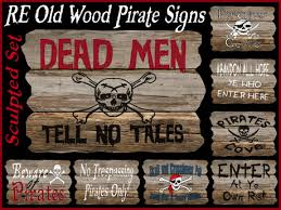 signs and decor second marketplace re wood pirate sculpted signs 10