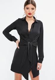 sleeve black dress shirt dresses sleeve shirt dresses missguided