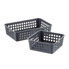 bins u0026 baskets plastic storage bins plastic baskets u0026 metal