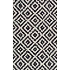 Black White Area Rug Tufted Black Area Rug