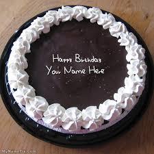 write name on chocolate icecream birthday cake happy birthday