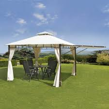 Outdoor Gazebo With Curtains by Suntime Pg00742 Luxury Casablanca Gazebo With Extension Side And