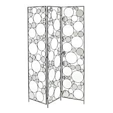 tri fold screen room divider stunning 3 panel glass folding screen room divider with iron