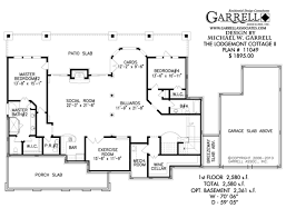 single house plans with basement house plans single cottage home pattern two ranch