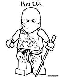 Coloriage ninjago kai ninja  JeColoriecom