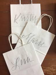 bridesmaid gift bag custom name gift bags bridesmaid gift bags groomsman gift