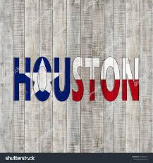 Flags Houston Texas Flag Houston Text Wood Background Stock Illustration