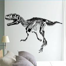 black t rex dinosaur skeleton wall stick diy wall stickers living black t rex dinosaur skeleton wall stick diy wall stickers living room bedroom adornment for kids boy room home decor wall stickers uk wall stickers vinyl