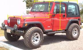 how wide is a jeep wrangler seeking help measurements from jeep wrangler tj yj owners by