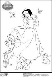 snow white and her animal friends coloring pages minister coloring