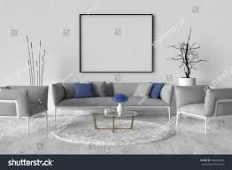 living room sofa two chairs table stock illustration 498466240