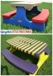little kids picnic table caroline s crafty corner plastic picnic table redo for my peanut