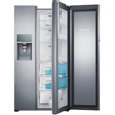 The Home Depot Kitchen Design Samsung 21 5 Cu Ft Side By Side Refrigerator In Stainless Steel