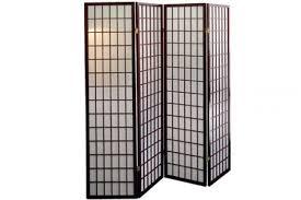 Shoji Screen Room Divider by Room Dividers Shoji Screen Cherry Grid 4 Panel The Futon Shop