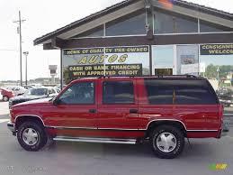 chevrolet suburban red 1995 bright red chevrolet suburban k1500 ls 4x4 12133425