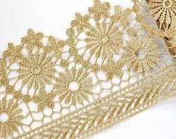 gold lace ribbon gold lace trim etsy