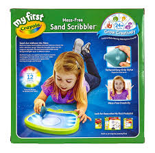 amazon com my first crayola mess free sand scribbler art