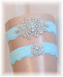 garters for wedding pool blue blue wedding garter set bridal by simplyweddings