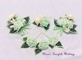 mint green corsage wedding flower buttonhole corsage package light mint green