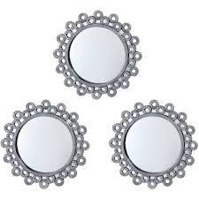 Mirror Sets For Walls Round Wall Mirror Sets Vanity Decoration