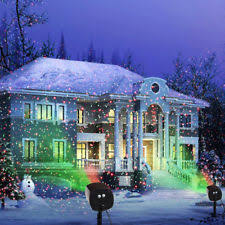motion laser light projector plastic elf indoor outdoor christmas lights ebay