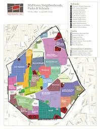 Washington Heights Map by Neighborhoods And Historic Districts Midtown Inc