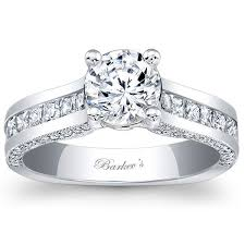 channel set engagement rings barkev s 14k white gold princess cut channel set ring