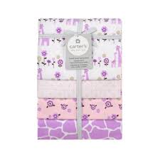 Carter S Convertible Crib by Carter U0027s Lilac Giraffe 4 Pack Flannel Receiving Blanket Toys
