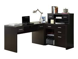 L Shaped Contemporary Desk Monarch Specialties Hollow L Shaped Home Office