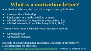motivation letter scholarships and college applications