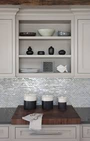 220 best space challenged kitchens images on pinterest gorgeous tile backsplash like the contrast with the butcher block