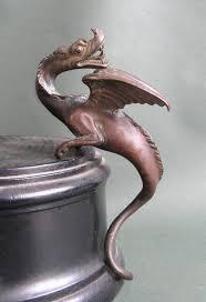 bureau d ude m anique lyon antique solid bronze wyvern sculpture finial